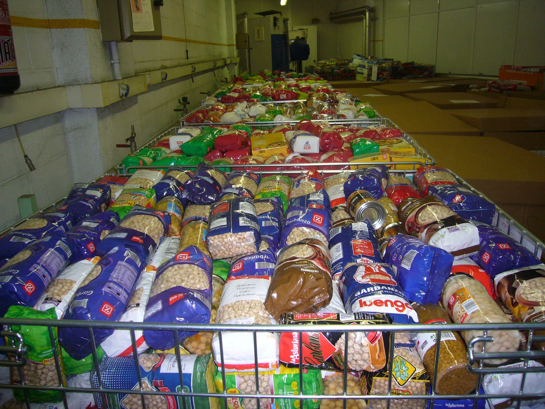Alimentos donados al BAB